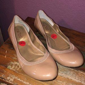 New MeToo ballerina nude pearl flats